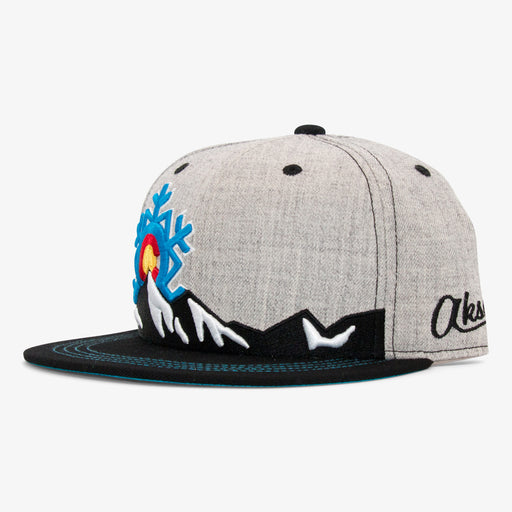 Aksels Colorado Snowflake Snapback Hat - Heather/Black