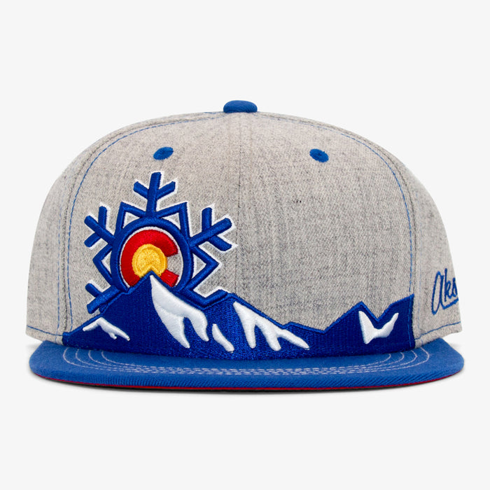 Aksels Colorado Snowflake Snapback Hat - Heather/Royal