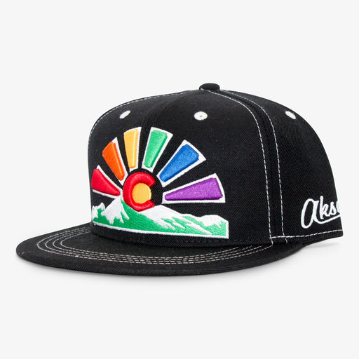 Aksels Colorado Pride Sunset Snapback Hat
