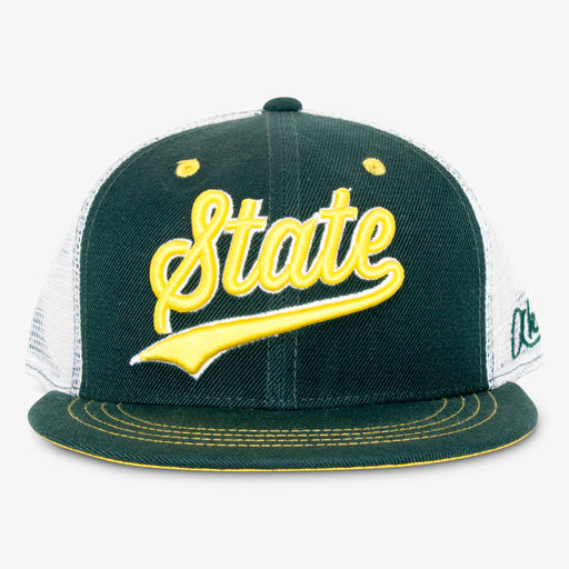 Aksels Cursive Colorado State Trucker Hat - Green
