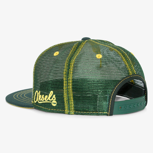 Aksels Cursive Colorado State Trucker Hat - White