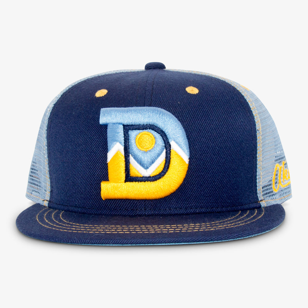 Aksels Denver D Trucker Hat - Navy
