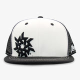 Keystone Resorts Flat Bill Snapback Hat - White and Black