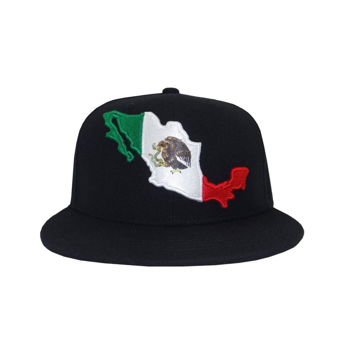 Aksels Mexican Flag Snapback Hat - Black