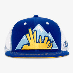 Colorado Montage Flat Bill Snapback Hat - Baby Blue