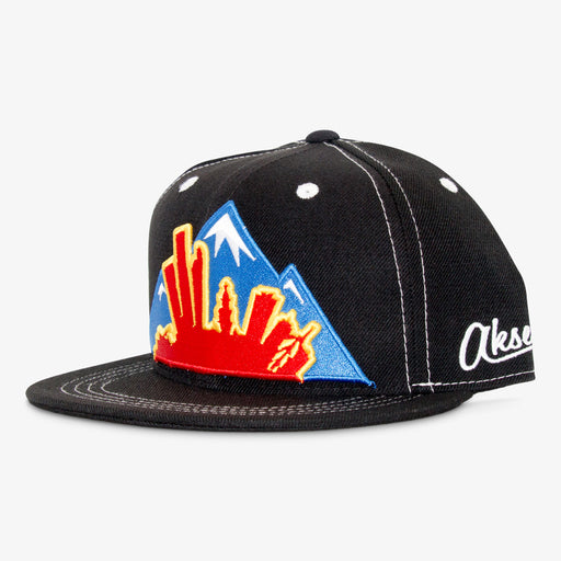 Aksels Colorado Montage Snapback Hat - Black