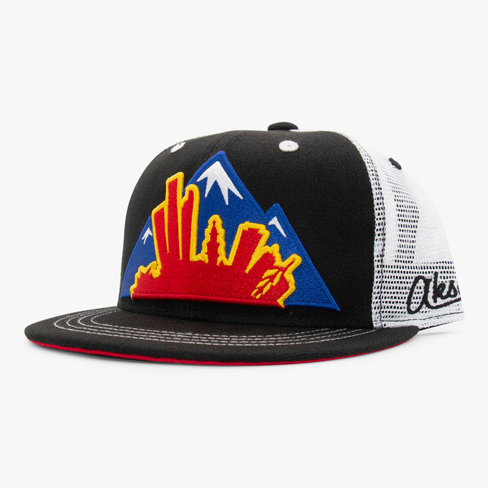 Aksels Colorado Montage Trucker Hat - Black