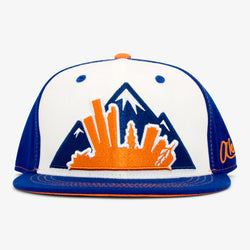 Colorado Montage Flat Bill Snapback Hat - Orange