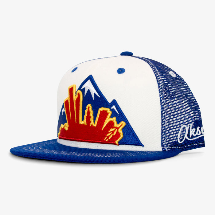 Aksels Colorado Montage Trucker Hat - Royal