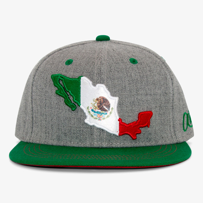 Aksels Mexican Flag Snapback Hat - Heather