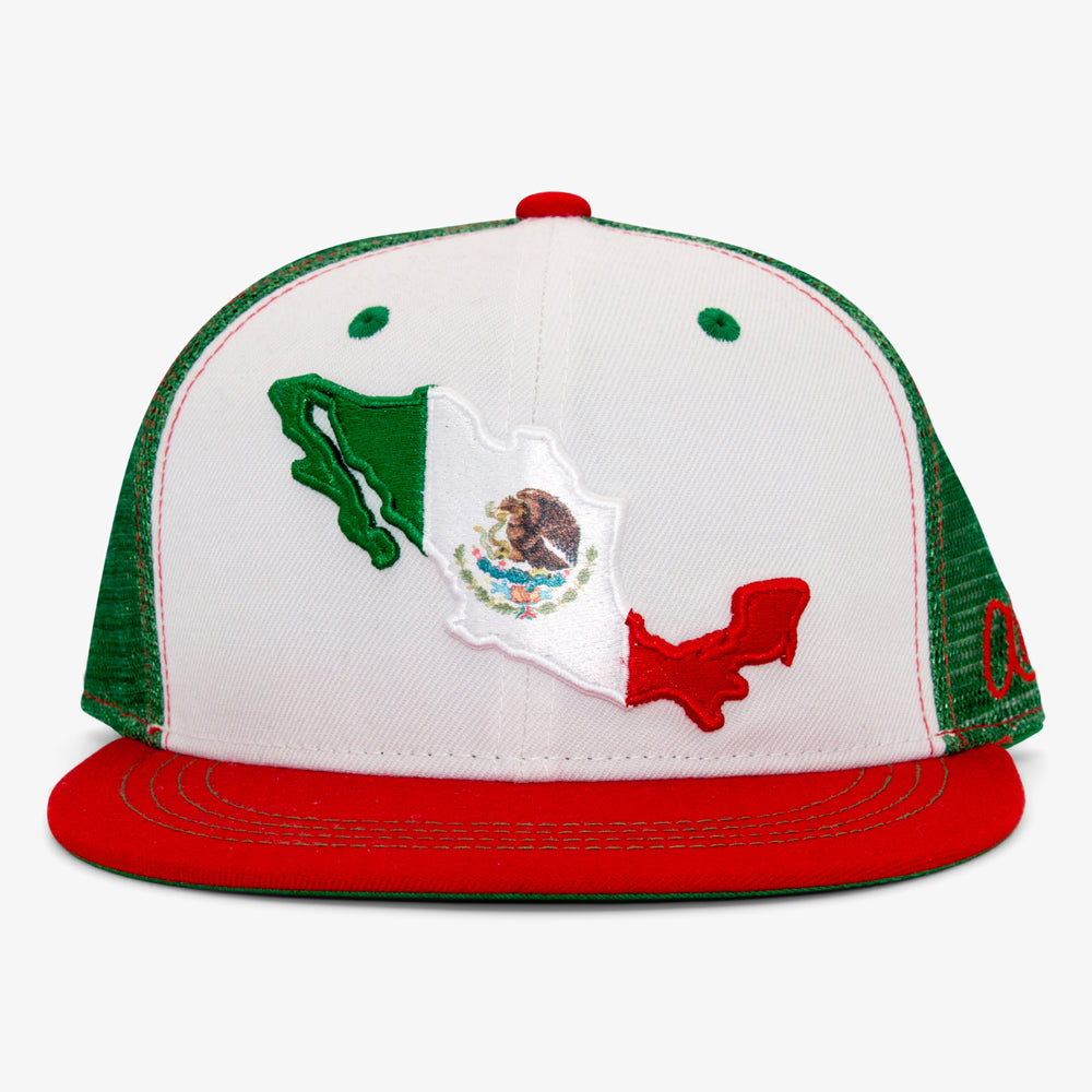 Aksels Mexican Flag Trucker Hat