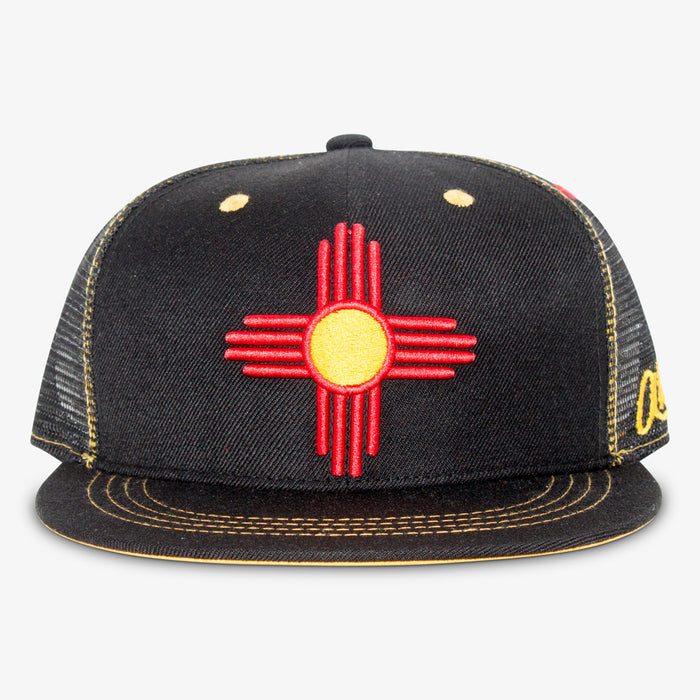 Aksels New Mexico Zia Trucker Hat - Black