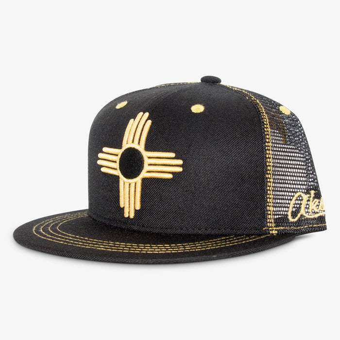Aksels New Mexico Zia Trucker Hat - Gold