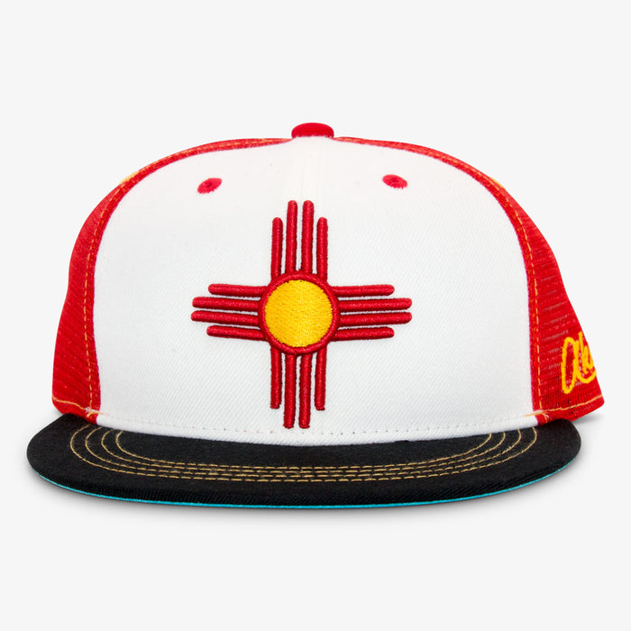 Aksels New Mexico Zia Trucker Hat - White