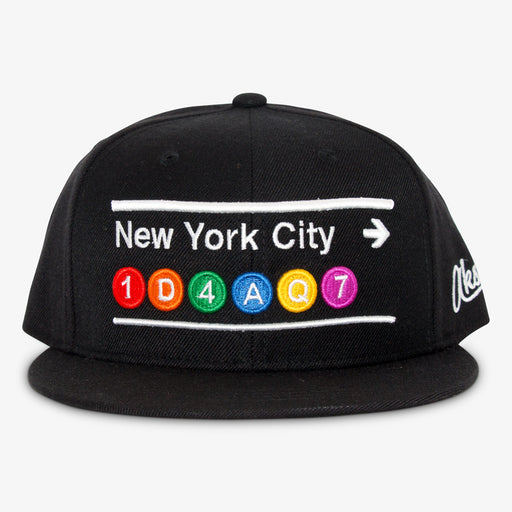 Aksels New York City Subway Lined Snapback Hat