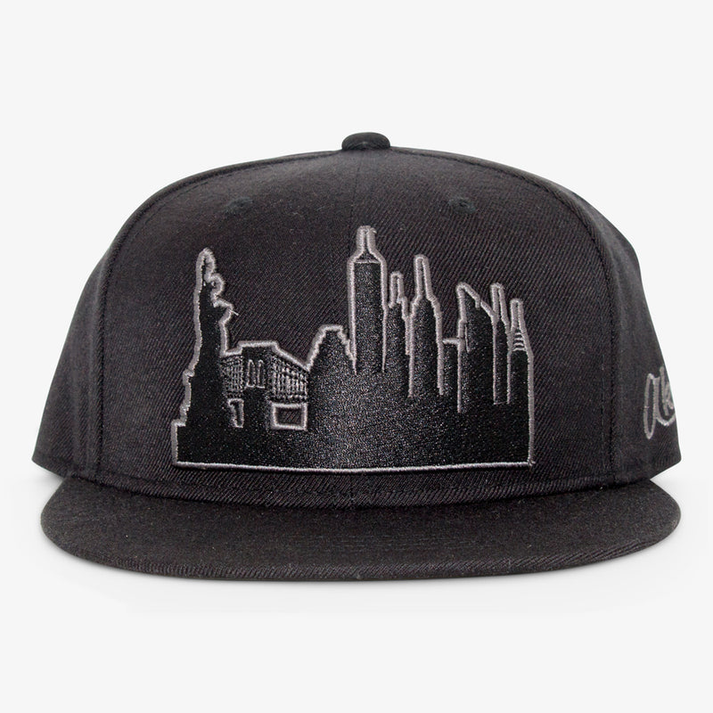 Aksels New York City Skyline Snapback Hat - Heather