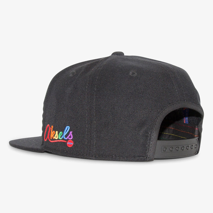 Aksels Pride Stripes Snapback Hat