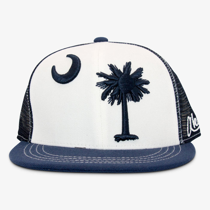 Aksels South Carolina Flag Trucker Hat - White