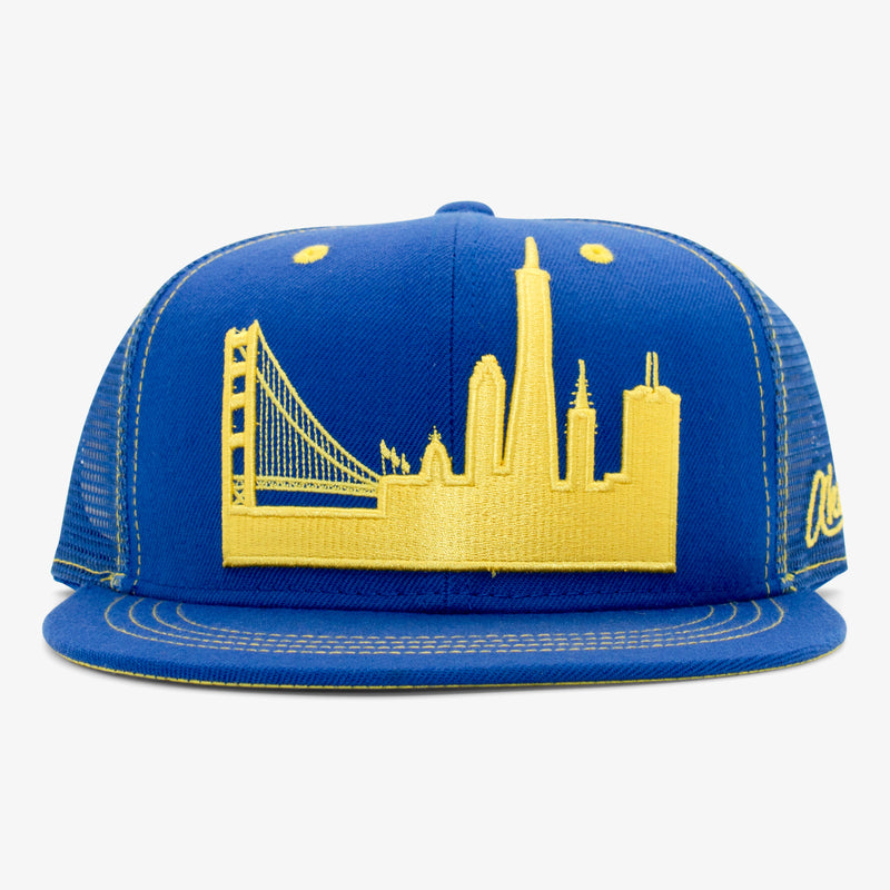 Aksels San Francisco Skyline Trucker Hat - Black