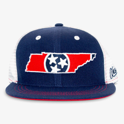 Aksels Tennessee Flag Trucker Hat - Navy