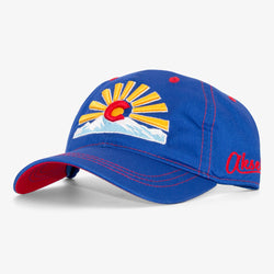CO Sunset Royal Curved Bill Hat