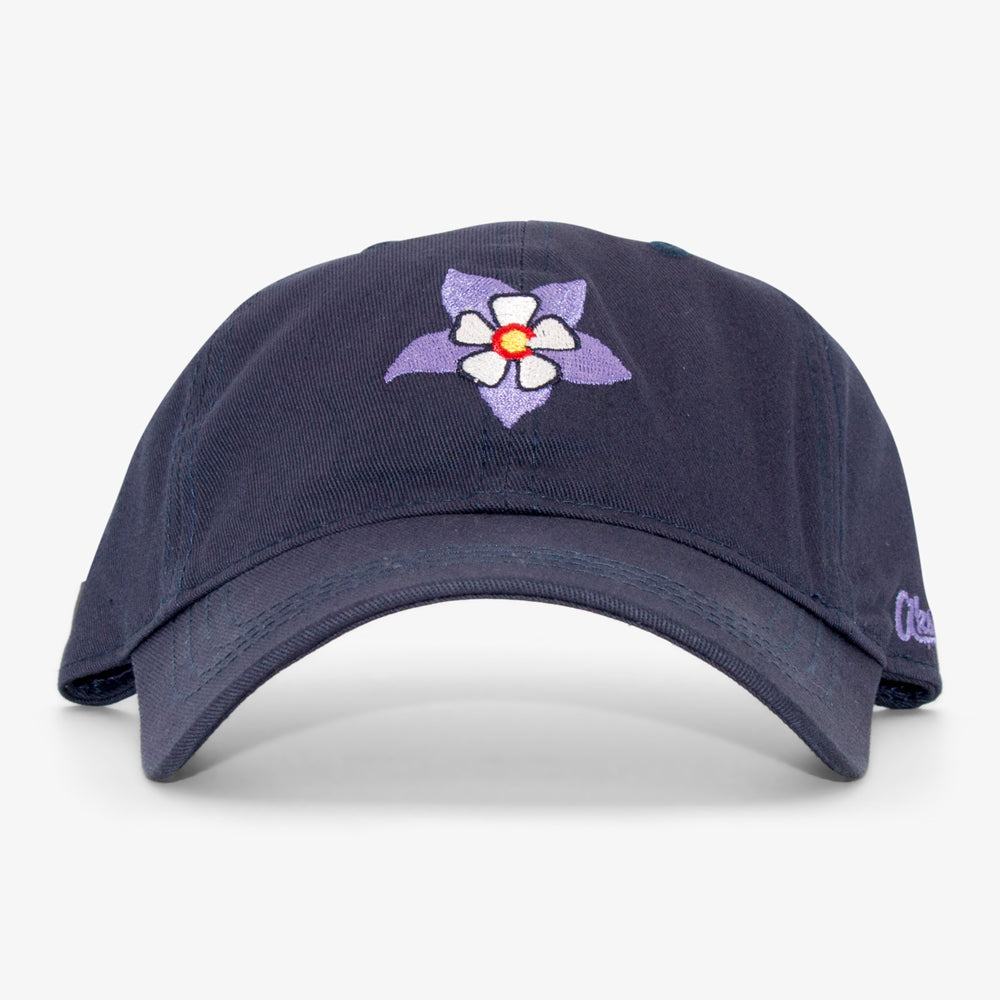 Aksels Women's Colorado Columbine Dad Hat - Navy