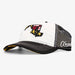 Aksels Maryland Flag Unstructured Trucker Hat - White