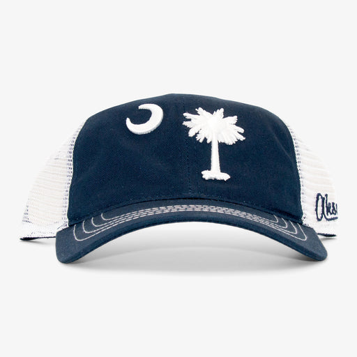 Aksels South Carolina Flag Unstructured Trucker Hat - Navy