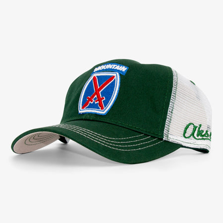 Aksels 10th Mountain Division Curved Trucker Hat - Navy