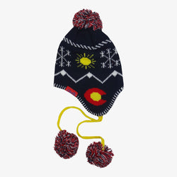 CO Knit Earflap Beanie