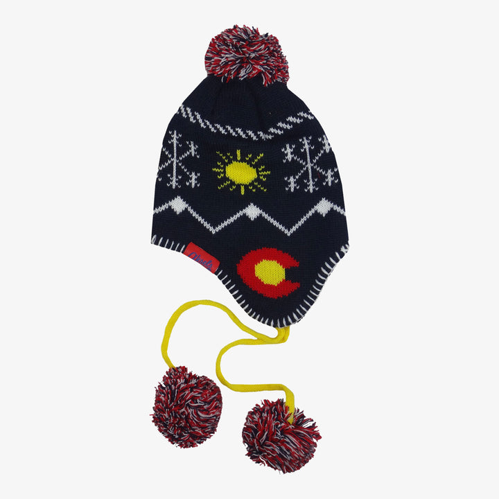 Colorado Knit Earflap Beanie