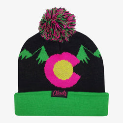 CO Mountain Neon Beanie