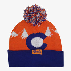 CO Mountain Orange Beanie