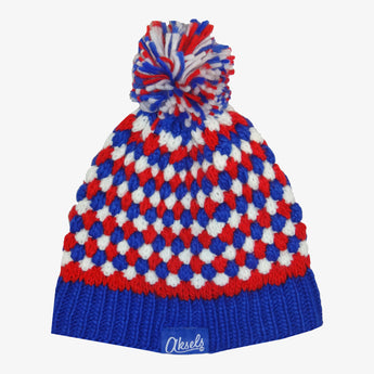 Red White and Blue Dots Beanie