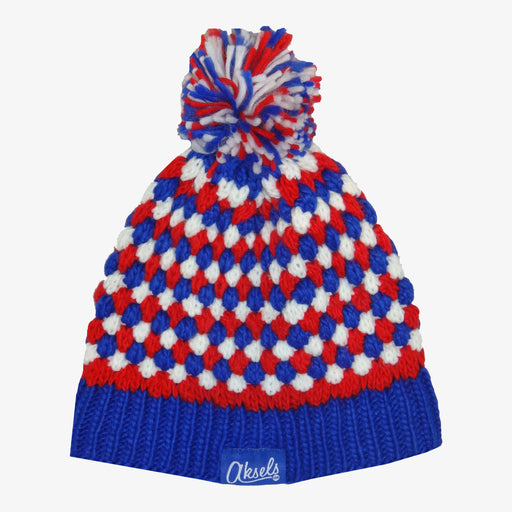 Aksels Red White and Blue Dots Beanie