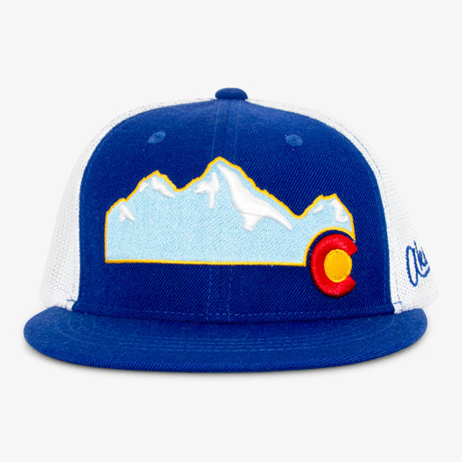 Aksels Colorado Mountain Full Flex Hat - Royal