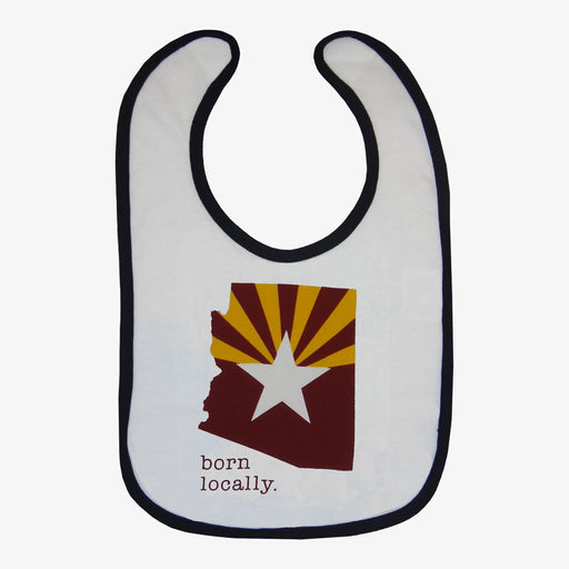 Born Locally Arizona Flag Bib - Maroon