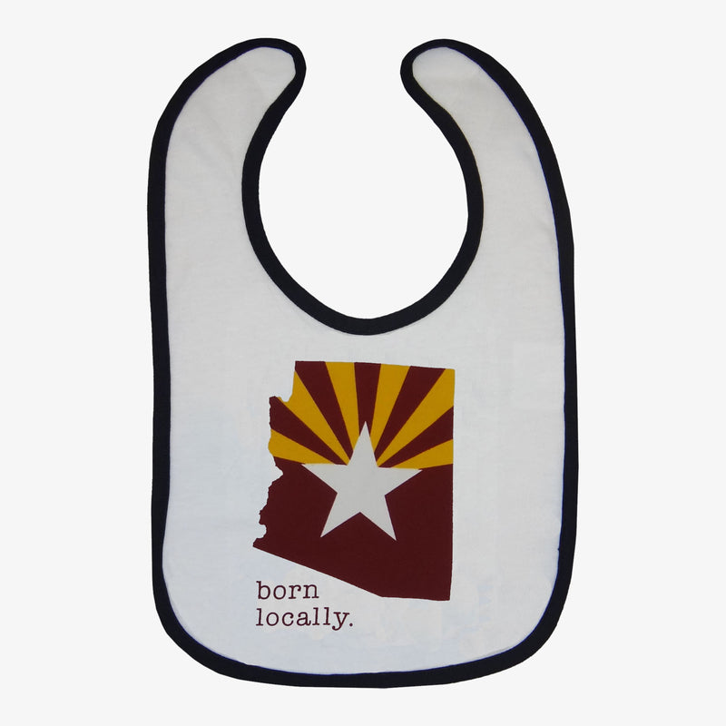 Born Locally Arizona Flag Bib - Royal