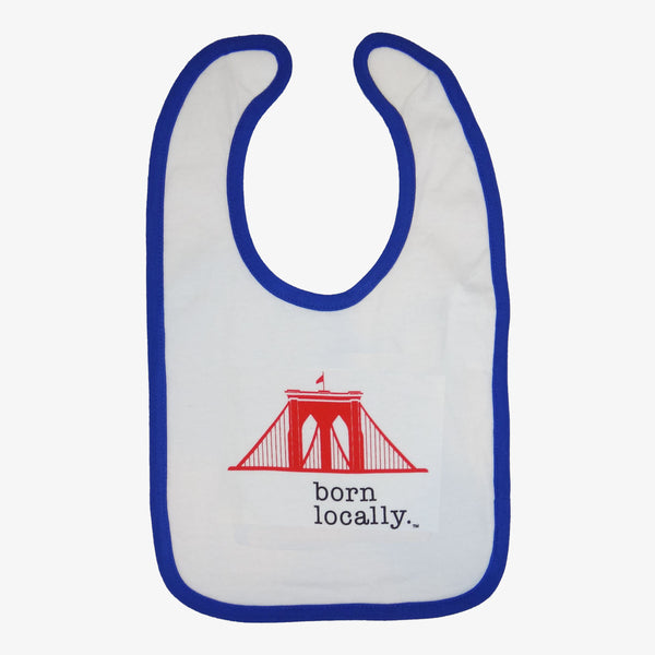 Brooklyn Bridge Born Locally Bib White/Blue