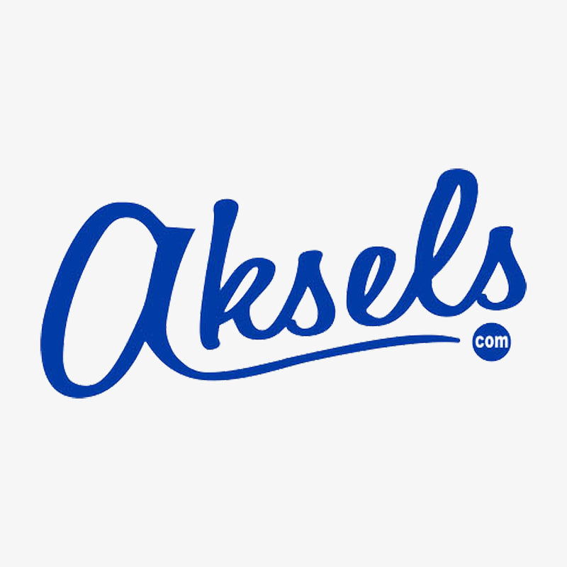 Aksels Cursive Logo Sticker - White