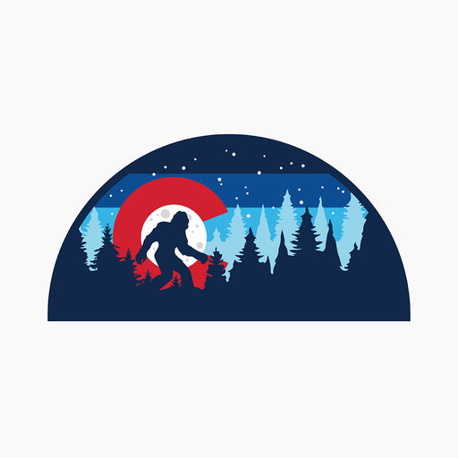 Colorado Bigfoot Silhouette Sticker