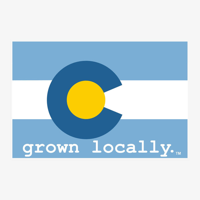 Aksels Grown Locally Colorado Flag Sticker - Baby Blue