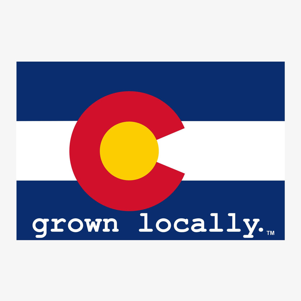 Aksels Grown Locally Colorado Flag Sticker - Royal