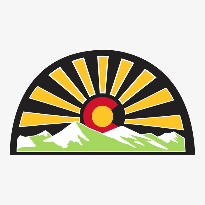 Aksels Colorado Sunset Sticker - Black