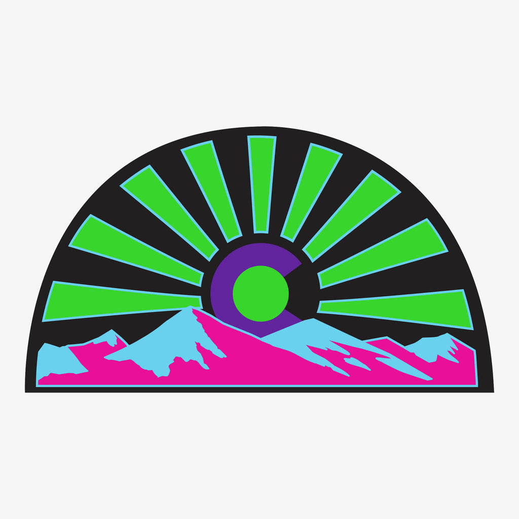 Aksels Colorado Sunset Sticker - Neon