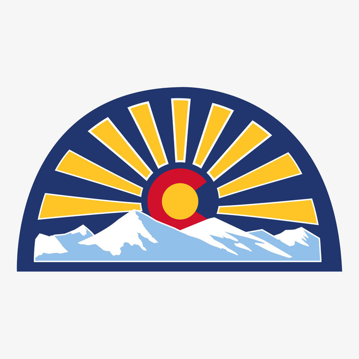 Aksels Colorado Sunset Sticker - Royal