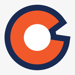 Colorado Big C Sticker - Navy Orange