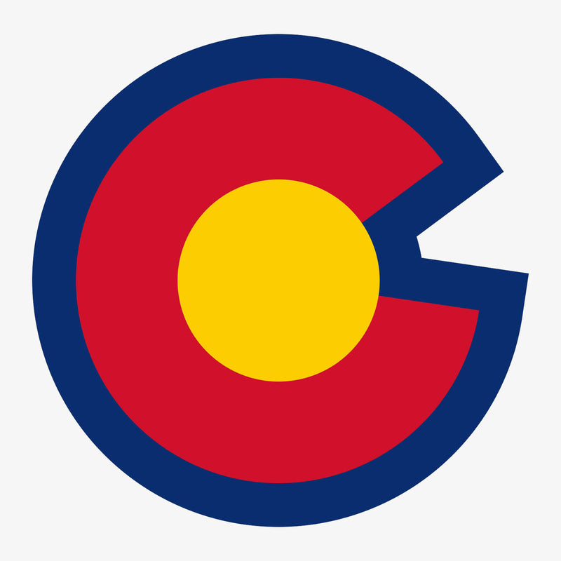 Aksels Colorado Big C Sticker - Neon