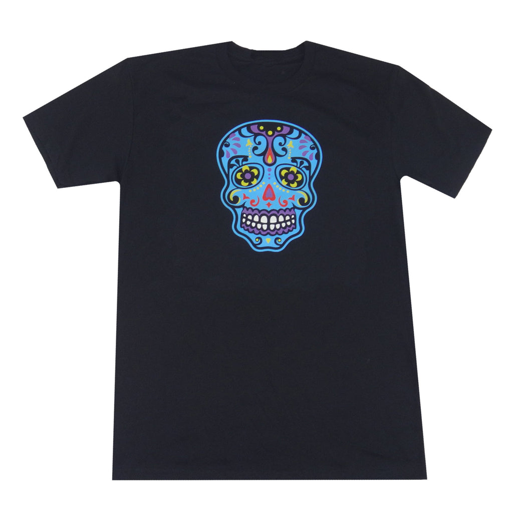 Day of the Dead Skull T-Shirt - Black