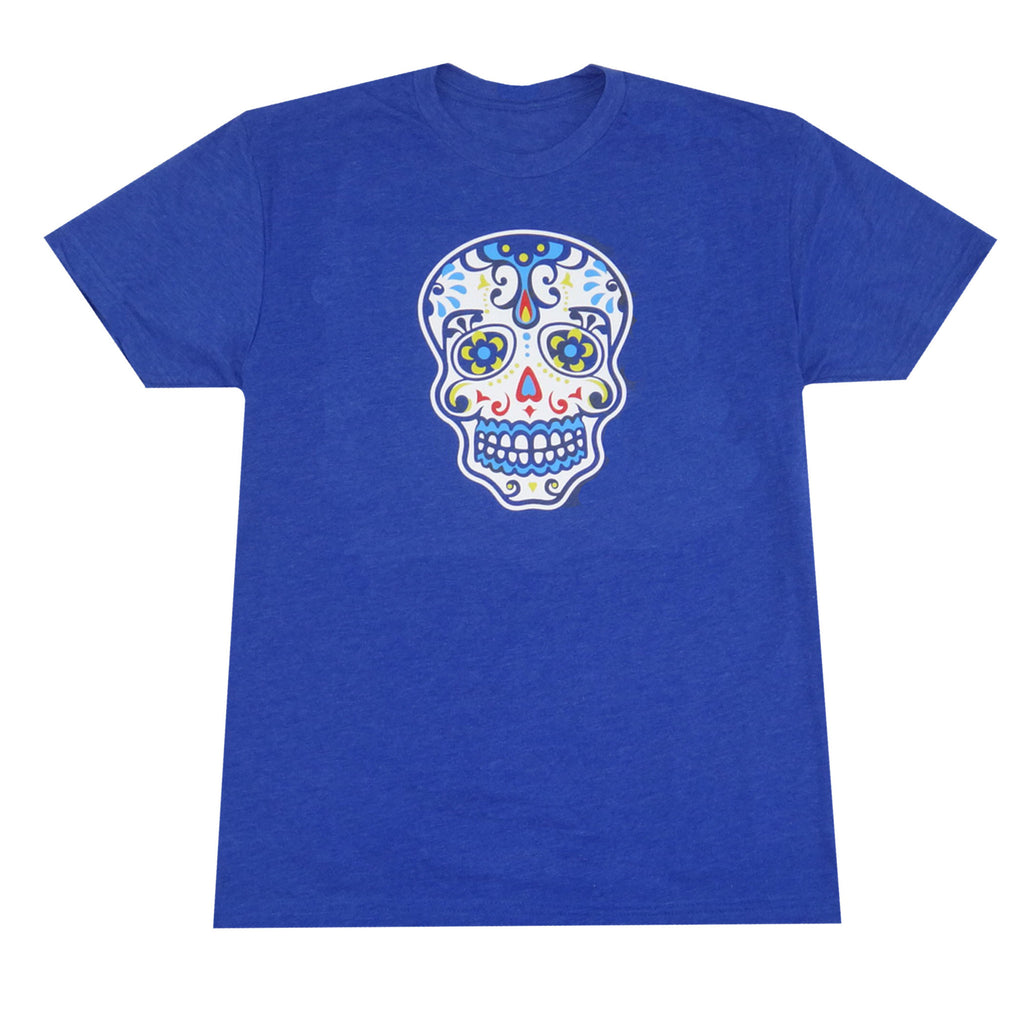 Day of the Dead Skull T-Shirt - Royal
